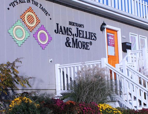 Architectural Lettering <b> Bertram's Jams</b>