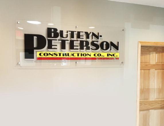Logo Standoff Sign<b> Buteyn Peterson</b>