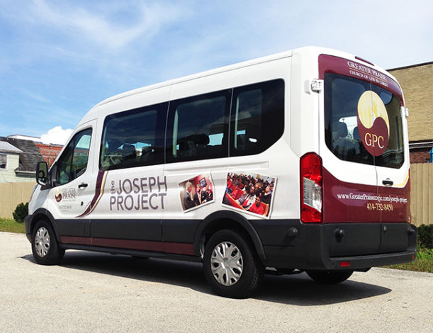 Partial Wrap Fleet Graphics<b> Greater Praise</b>