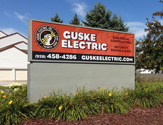 Backlit Monument Sign<b> Guske Electric</b>