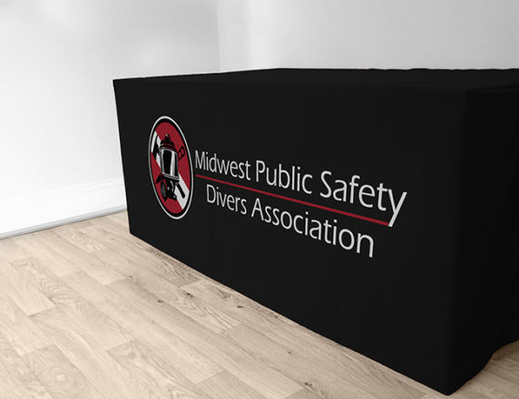 Cloth Table Cover<b>Midwest Divers Association</b>